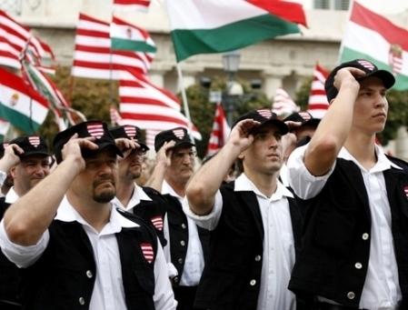 Défilé du parti Jobbik en Hongrie, 2010